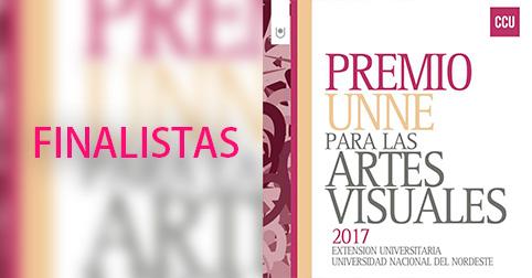 FINALISTAS DEL PREMIO UNNE PARA LAS ARTES VISUALES 2017